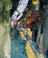 任传文   老街 - 任传文 - 名家西画 当代艺术专场 - 2008年秋季艺术品拍卖会 -中国收藏网