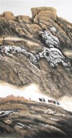 周尊圣 天山行 硬片 - 周尊圣 - 中国书画、油画 - 2006艺术精品拍卖会 -收藏网