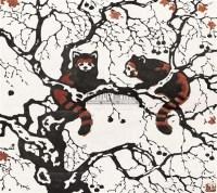 小熊猫 (两幅选一) 木版套色 - 力群 - 中国新兴木刻运动先驱·李桦、古元、沃渣版画作品及收藏专场 - 2010年秋季艺术品拍卖会 -中国收藏网
