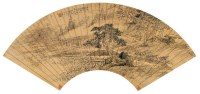 吴絓祥(1848~1903)  松亭话旧图 -  - 中国书画金笺扇面 - 2005年首届大型拍卖会 -收藏网