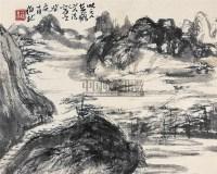 拟古山水 镜片 纸本 - 黑伯龙 - 中国书画(下) - 2010瑞秋艺术品拍卖会 -收藏网