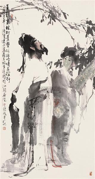 东坡步履图 立轴 设色纸本 - 17053 - 中国书画 - 2010秋季艺术品拍卖会 -收藏网