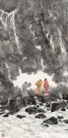 虎溪三笑 立轴 设色纸本 - 杨延文 - 中国书画四·当代书画 - 2010秋季艺术品拍卖会 -收藏网