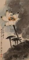 荷花 立轴 设色纸本 - 糜耕云 - 中国书画 - 2010年秋季艺术品拍卖会 -收藏网