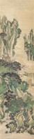 袁江山水 设色纸本 立轴 - 袁江 - 2011迎春书画大型拍卖会 - 2011迎春书画大型拍卖会 -收藏网