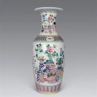 清同治 粉彩博古花鸟大瓶 -  - 瓷器工艺品(一) - 2006年第3期嘉德四季拍卖会 -收藏网