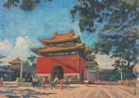 小城楼 布面 油画 - 李宗津 - 中国油画 - 第54期书画精品拍卖会 -收藏网
