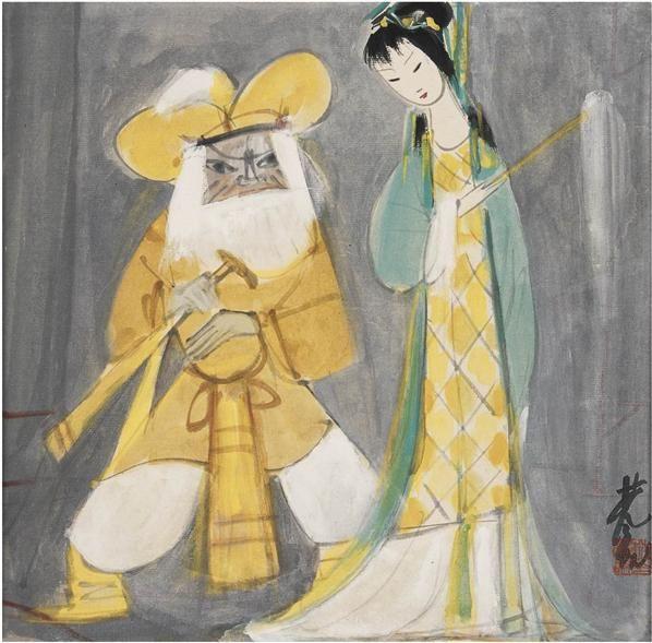 林风眠   戏剧人物 - 116036 - 中国书画近现代名家作品专场 - 2008年秋季艺术品拍卖会 -收藏网