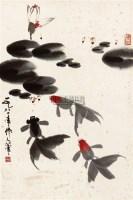金鱼 片 纸本 - 吴作人 - 中国书画 - 2010秋季艺术品拍卖会 -中国收藏网