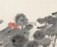 荷花 镜框 设色纸本 - 124317 - 中国书画二·名家小品及书法专场 - 2010秋季艺术品拍卖会 -收藏网