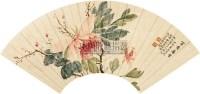 花卉 扇面 纸本 - 陆抑非 - 中国书画 - 2010秋季艺术品拍卖会 -中国收藏网