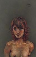 半裸的女人之二 素描 - 庞茂琨 - 油画专场  - 2010秋季艺术品拍卖会 -收藏网