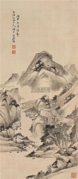 山水 立轴 水墨绢本 - 7123 - 中国书画(二) - 2006春季拍卖会 -收藏网