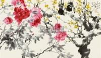 富贵双喜图 镜片 设色纸本 - 118173 - 国画 陶瓷 玉器 - 2010秋季艺术品拍卖会 -中国收藏网