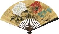 牡丹 成扇 纸本 - 陆抑非 - 扇面小品 - 2010秋季艺术品拍卖会 -中国收藏网