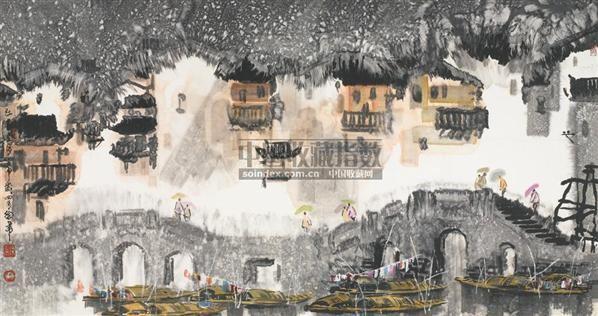江南三月 镜心 设色纸本 - 119126 - 中国书画(一) - 2006春季拍卖会 -收藏网