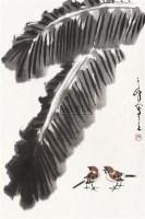 芭蕉麻雀 立轴 纸本设色 - 孙其峰 - 中国当代书画 - 2010秋季艺术品拍卖会 -收藏网