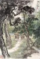 杜甫草堂 立轴 设色纸本 -  - 近现代书画 - 2006夏季书画艺术品拍卖会 -中国收藏网