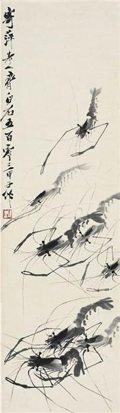 齐白石   群虾图 - 116087 - 中国书画近现代名家作品专场 - 2008年秋季艺术品拍卖会 -收藏网