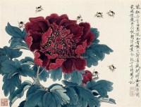 天香国色 镜框 设色纸本 - 134229 - 名家小品暨册页专场 - 2010秋季艺术品拍卖会 -收藏网