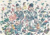 醉荷(共二幅) - 74547 - 油画 - 2010年秋季拍卖会 -收藏网