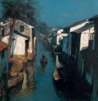 水乡 版画 - 陈逸飞 - 油画专场  - 2010秋季艺术品拍卖会 -收藏网