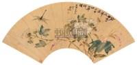蜂忙花盛图 扇片 设色洒金 - 刘德六 - 文苑英华 - 2006年度大型经典艺术品拍卖会 -收藏网