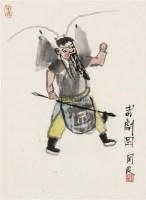 武剧图 立轴 纸本 - 关良 - 中国书画(下) - 2010瑞秋艺术品拍卖会 -收藏网