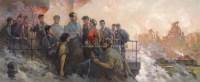 毛主席在马鞍山钢铁厂 布面油画 - 鲍加 - 中国油画  - 2010年秋季艺术品拍卖会 -收藏网