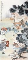 鸿门宴 立轴 纸本 - 刘凌沧 - 中国书画 - 2010年秋季书画专场拍卖会 -收藏网