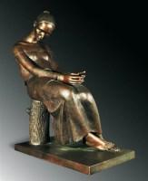 周思旻(b.1969)靜思 -  - 首届当代中国雕塑专场 - 2008年春季拍卖会 -中国收藏网