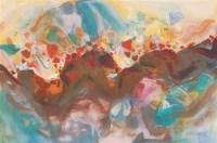 抽象版画 布面 油画 - 朱德群 - 中国油画 - 第54期书画精品拍卖会 -收藏网