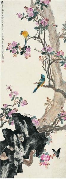 江寒汀(1903〜1963)海棠喜春圖 - 13356 - ·中国书画近现代名家作品专场 - 2008年春季拍卖会 -收藏网