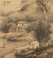 吴石僊 山水 设色纸本 -  - 古代书画专场 - 2006年秋季精品拍卖会 -收藏网