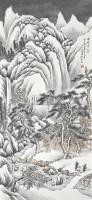 山水雪景 立轴 设色纸本 - 55937 - 中国书画 - 2006秋季书画艺术品拍卖会 -收藏网