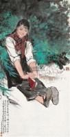 幽静  镜心 设色纸本 - 何家英 - 中国书画四·当代书画 - 2010秋季艺术品拍卖会 -收藏网
