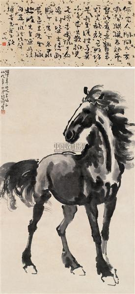 立马图 立轴 设色纸本 - 116101 - 中国近现代书画(二) - 2010秋季艺术品拍卖会 -收藏网