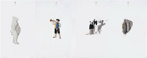 版畫組件(一組四件) -  - 名家西画 当代艺术专场 - 2008年春季拍卖会 -收藏网