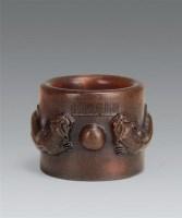 犀角雕螭龙纹扳指 -  - 瓷杂专场 - 第9期中国艺术品拍卖会 -中国收藏网