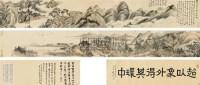 仿耕烟散人秋山行旅  手卷 设色纸本 -  - 中国近现代书画(一) - 2010秋季艺术品拍卖会 -收藏网
