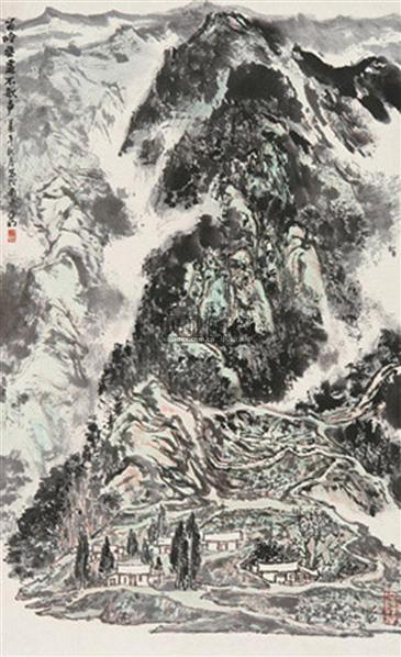 苗岭无处不歌声 立轴 设色纸本 - 2538 - 中国书画(二) - 2010年秋季艺术品拍卖会 -收藏网