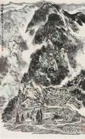 苗岭无处不歌声 立轴 设色纸本 - 亚明 - 中国书画(二) - 2010年秋季艺术品拍卖会 -收藏网