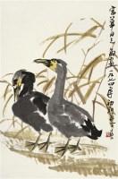 双鸭图 立轴 设色纸本 - 来楚生 - 中国书画 - 2010年秋季拍卖会 -收藏网