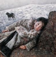 远方飘来陌生的歌 布面油画 - 艾轩 - 中国油画  - 2010年秋季艺术品拍卖会 -收藏网