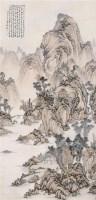 山水 立轴 纸本设色 - 何维朴 - 中国古代书画  - 2010秋季艺术品拍卖会 -中国收藏网