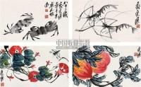 集锦 (四帧) 镜心 设色纸本 - 2675 - 中国书画 - 第9期中国艺术品拍卖会 -收藏网