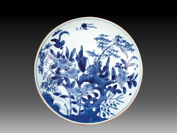 清 青花花鸟盘 -  - 瓷玉珍玩 - 2006艺术精品拍卖会 -中国收藏网