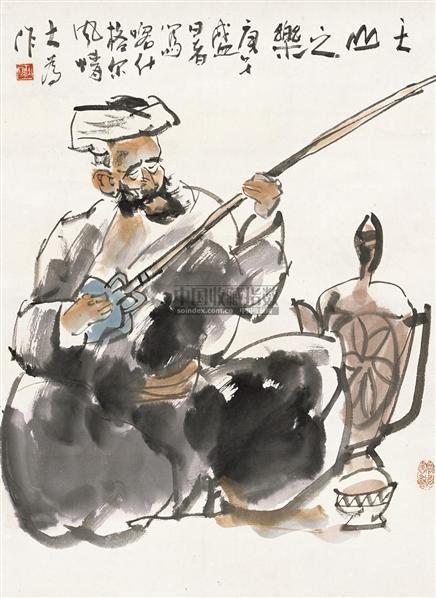天山之乐 立轴 设色纸本 - 114744 - 中国书画 - 2010秋季艺术品拍卖会 -收藏网