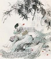 人物 立轴 纸本 - 韩敏 - 中国书画(下) - 2010瑞秋艺术品拍卖会 -中国收藏网