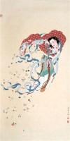潘絜兹 飞天 立轴 - 潘絜兹 - 中国书画、油画 - 2006艺术精品拍卖会 -收藏网